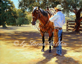 Lorna Dillon's cowboy and quarterhorse